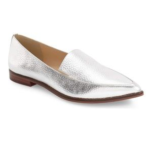 Sole Society silver loafers